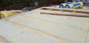 Montering av gulv og isolasjon