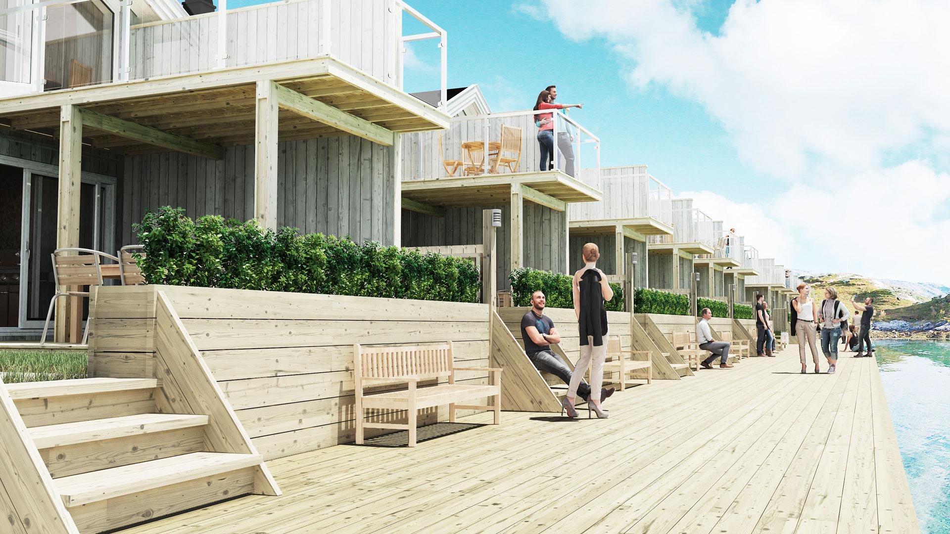 Nye hytter på eksotiske Sommarøy