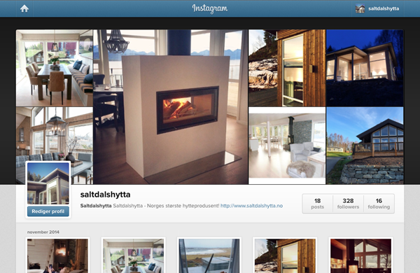 Instagram, Saltdalshytta