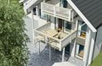 Hus med loftetasje